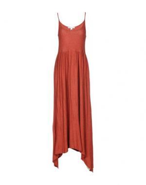 Длинное платье TWENTY8TWELVE. Цвет: ржаво-коричневый