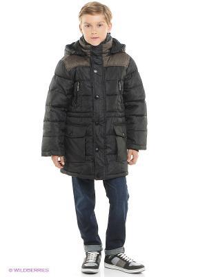 Пальто MES AMI. Цвет: коричневый