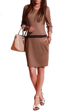 Платье FRANCESCA LUCINI. Цвет: мокко, коричневый