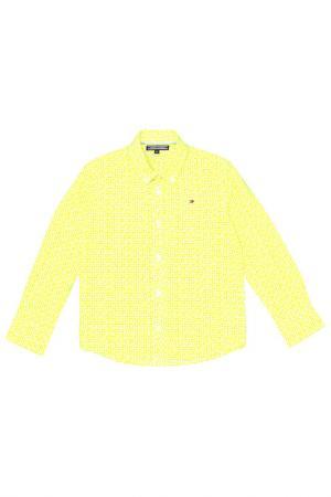 Рубашка Tommy Hilfiger. Цвет: желтый