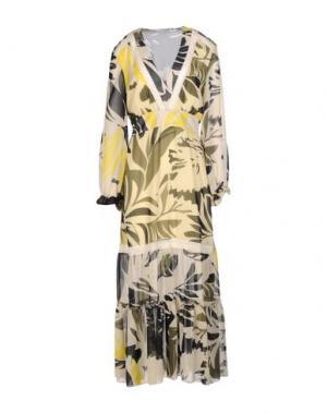 Длинное платье ANGELA MELE MILANO. Цвет: зеленый-милитари
