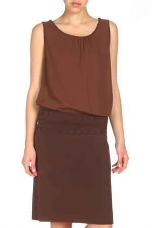 Трикотажное платье без рукавов Tuzzi. Цвет: none