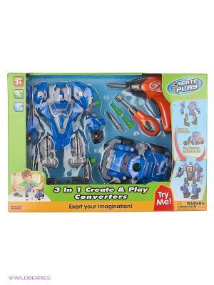 Робот трансформер Hap-P-Kid. Цвет: синий, серый
