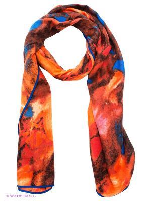 Палантин Labbra. Цвет: оранжевый, синий, коричневый