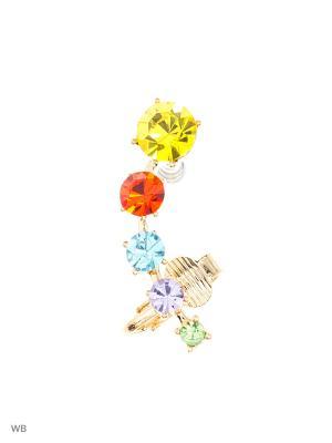 Серьги Lovely Jewelry. Цвет: серебристый, голубой, желтый, красный