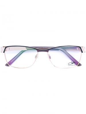 Эмалированные очки с прямоугольной оправой Cazal. Цвет: чёрный