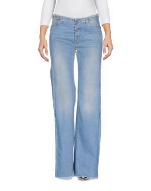 Джинсовые брюки PLEASE. Цвет: синий