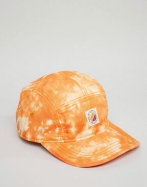 Hollister 5-панельная кепка. Цвет: оранжевый