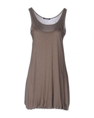 Короткое платье EMISPHERE. Цвет: голубиный серый