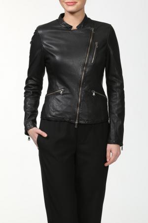 Куртка Compagnia delle pelli. Цвет: черный