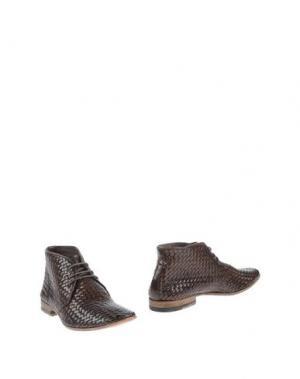 Полусапоги и высокие ботинки SARTORI GOLD. Цвет: темно-коричневый