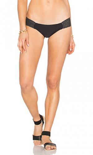 Плавки бикини с полосками по бокам Bettinis. Цвет: черный