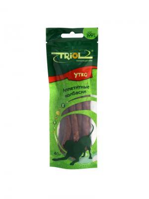 Аппетитные Колбаски из утки для собак, 40г. TRIOL. Цвет: коричневый