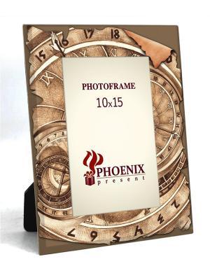 Декоративная фоторамка КОМПАС(из стекла, для фото 10*15см) Magic Home. Цвет: коричневый