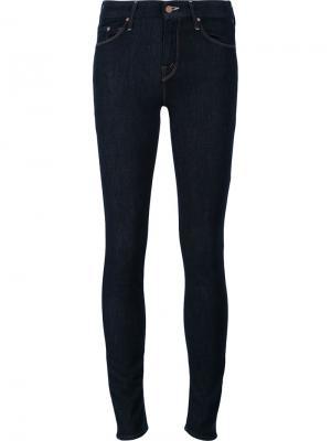 Узкие джинсы Mother. Цвет: синий