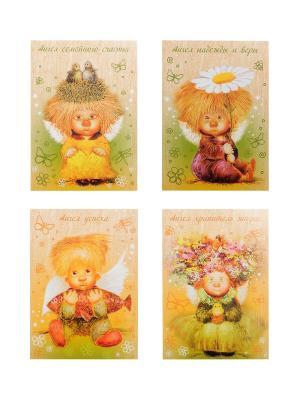 Набор открыток Artangels. Цвет: лазурный, белый, светло-оранжевый