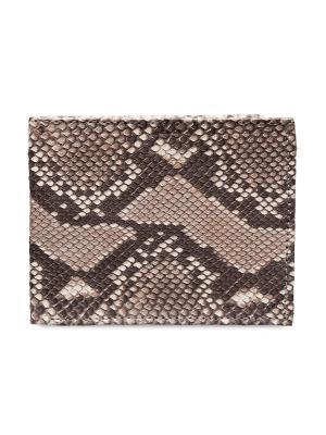 Мужской кошелек из кожи питона MEYNINGER. Цвет: серо-коричневый