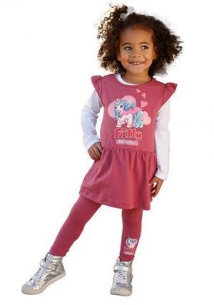 Filly, платье и леггинсы (комплект из 2 изд.), для девочек FILLY. Цвет: малиновый