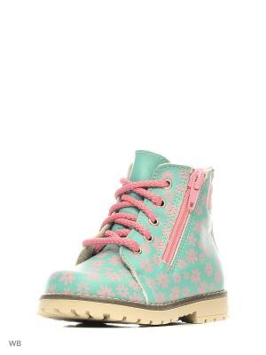 Ботинки Котофей. Цвет: бирюзовый