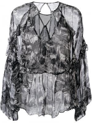 Блузка Lixine Iro. Цвет: чёрный
