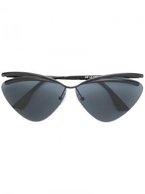 Солнцезащитные очки с круглой оправой Le Specs. Цвет: чёрный