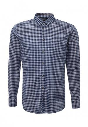 Рубашка Boss Hugo. Цвет: синий