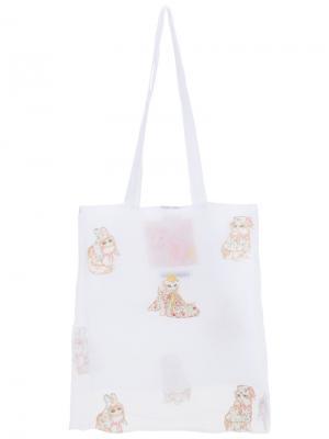 Cats tote bag Mikio Sakabe. Цвет: белый