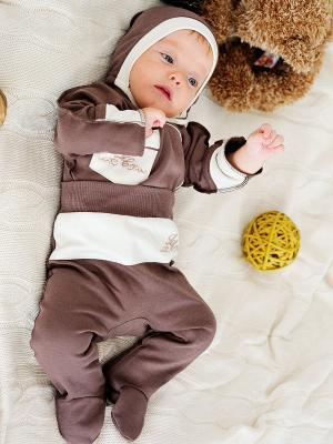 Ползунки, 2 шт. Lucky Child. Цвет: коричневый, молочный