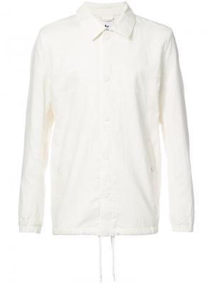 Куртка-рубашка с подолом на шнурке Adidas X Wings + Horns. Цвет: белый