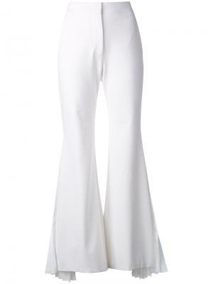 Расклешенные классические брюки Sara Battaglia. Цвет: белый