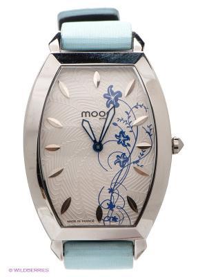Часы MOOG. Цвет: голубой, серебристый