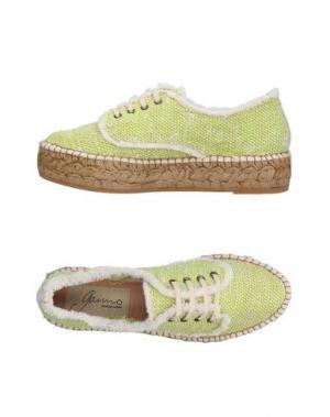 Низкие кеды и кроссовки GAIMO. Цвет: светло-зеленый