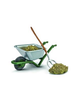 Набор для чистки конюшни на ферме SCHLEICH. Цвет: зеленый, серебристый, темно-зеленый