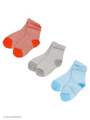 Носки - 3 пары Гамма. Цвет: красный, синий