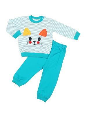Пижама M-BABY. Цвет: морская волна