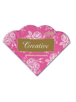 Салфетки Creative round 32х32 см, Розовый винтаж, 3-слойные, 12 шт./уп Aster. Цвет: розовый