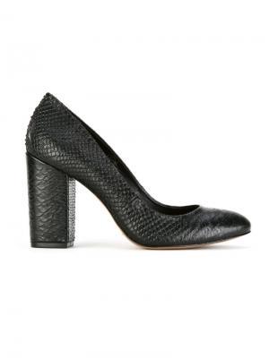 Текстурированные туфли Serpui. Цвет: чёрный