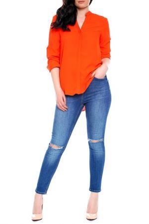 Блуза Emma Monti. Цвет: orange