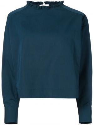Ruffle collar blouse Atlantique Ascoli. Цвет: синий