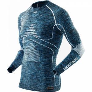 Термо-Кофта X-Bionic. Цвет: blue melange/white
