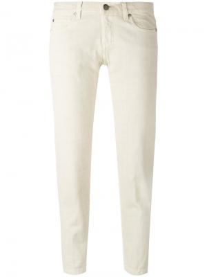 Укороченные брюки Aspesi. Цвет: телесный
