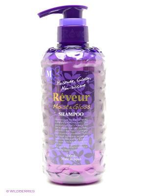 Шампунь Reveur Moist&Gloss. Увлажнение и Блеск 500 мл Japonica. Цвет: фиолетовый