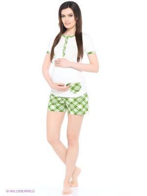 Комплект для беременных и кормящих FEST. Цвет: молочный, зеленый