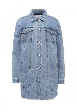 Куртка джинсовая LOST INK. Цвет: голубой