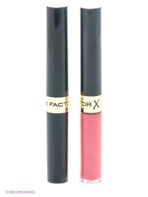 Стойкая губная помада и увлажняющий блеск Lipfinity, 026 тон MAX FACTOR. Цвет: красный