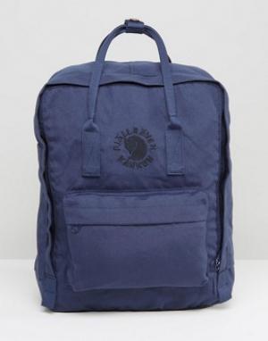 Fjallraven Темно-синий рюкзак объемом 16 л Re-Kanken. Цвет: темно-синий