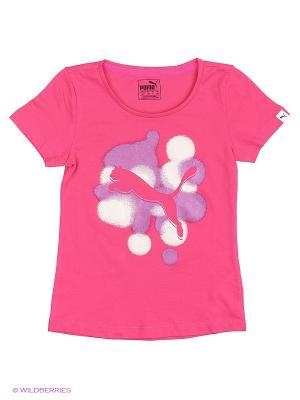 Футболка Style Y Tee G Puma. Цвет: розовый
