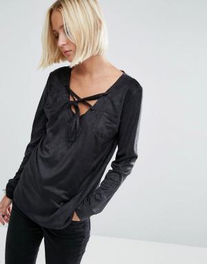 Uncivilised Рубашка из искусственной замши. Цвет: черный