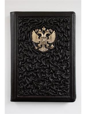 Обложка для паспорта бизнес Кожевенный дворъ. Цвет: темно-коричневый