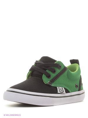 Кеды 4U. Цвет: зеленый, черный